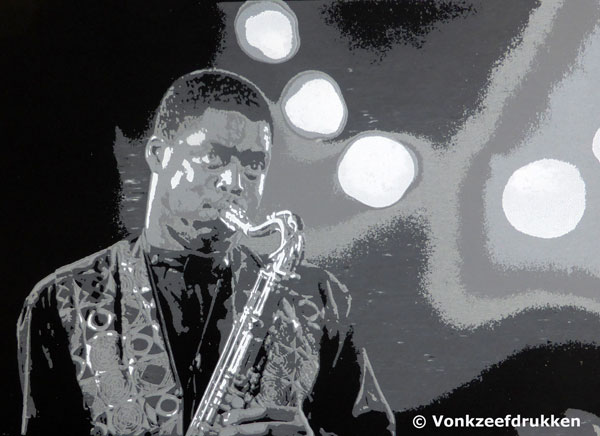 Zeefdruk: Courtney Pine