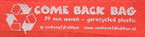 Come Back Bag label