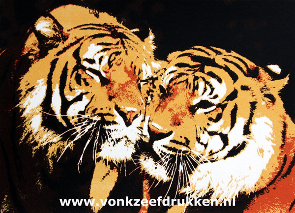 Zeefdruk: Lovely Tigers