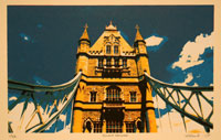 Zeefdruk: Tower Bridge London